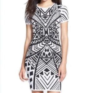 NWOT knit Tribal black and white bodycon